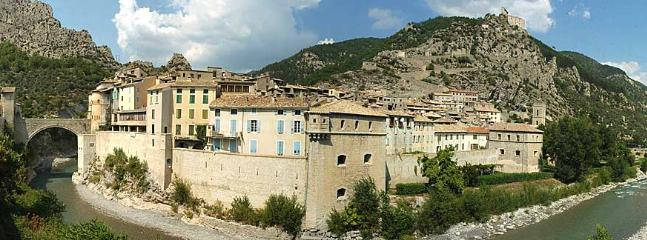 The fortified town of Entrevaux close to the Chateau