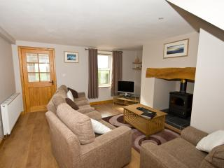 Lounge with Freeview TV, log burner seating 5