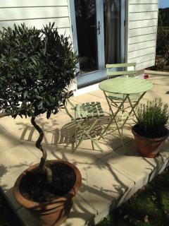 Garden seating - perfect sun trap for a G&T!
