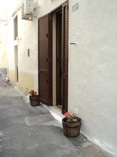 prospetto della porta di casa