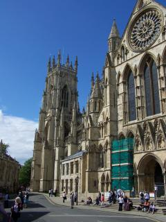 York Minster 2 mins walk away