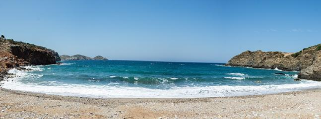 The beach 600 meters away from the villa