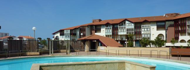Apartments and pool