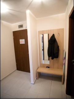 Spacious hallway and storage for coats and footwear
