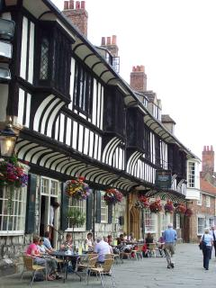 Tudor buildings by the Minster, just a couple if mins away.