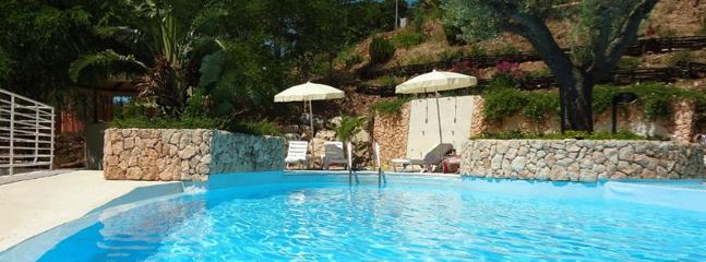 The pool is only shared by a handful of villa owners