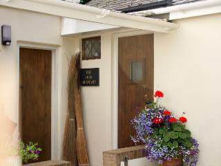 Front door to cottage