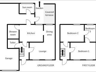 Gite floor plan / Plan du gite