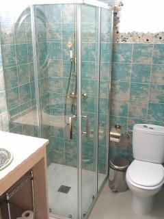suite bathroom whit rain jet