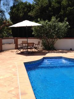 There is additional seating around the property which can be moved as required for a party of 12