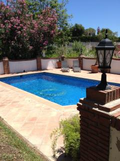 The pool is set in well established gardens but access can be controlled through gates and doors.