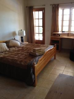 All but one of the bedrooms has access to the terraces through an external door.