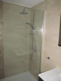 Main Bathroom with walk in shower