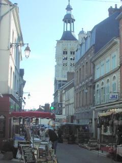 Weekly market in nearby Bernay