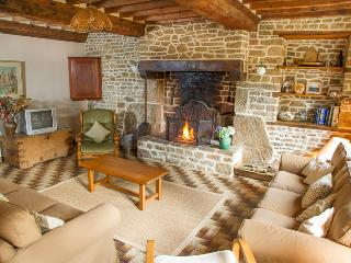 Lounge with magnificent Normandy fireplace