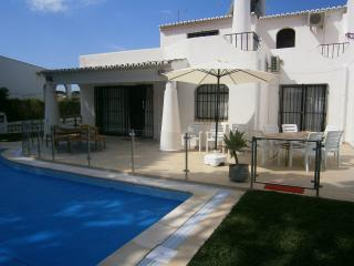 Large terrace with pool security/safety fence