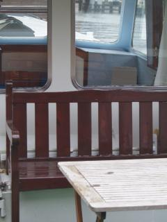 a seat at the deck