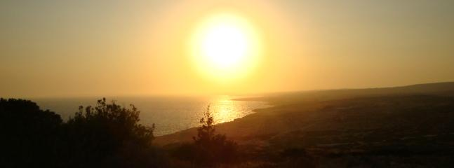 Watch the sun go down over Ayia Napa from Cape Greco