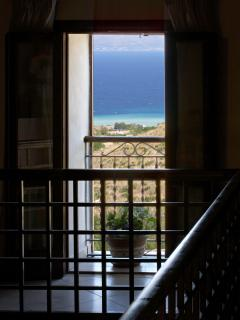 View from the upstairs gallery towards the sea.
