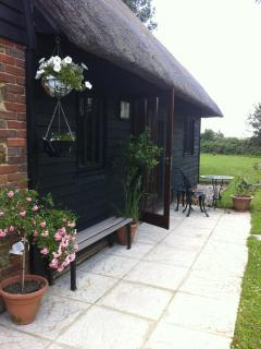 Barn Annexe Patio - directly on the 1066 footpath