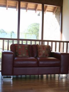 Mezzanine seating with large panoramic windows