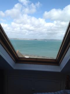 View from 'attic room' across to St Michaels Mount