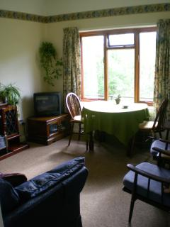 The living room at Kerry Cottage.  In the Shropshire Hill AONB Nr Clun.