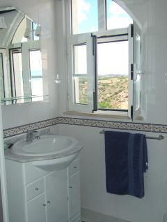 View of 2nd Floor Bathroom, with Shower overlooking pleasant Mountain views ...