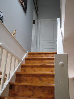 Looking upstairs towards the landing