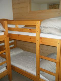 The bunks in bedroom 2