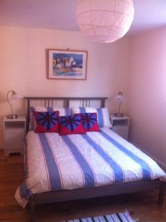 Large double bedroom with en suite, on ground floor with easy access.