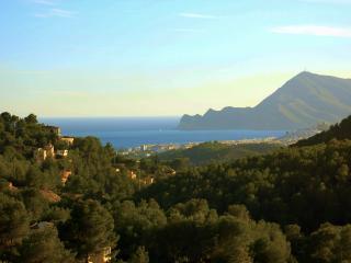 The 60M² terrace overlooks the Bay Of Altea and Albir