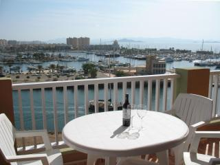 Stunning marina, Med and Mar Menor views, aircon, free Wifi, pools, beaches