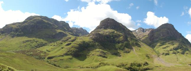 The stunning Glencoe and the 'Three Sister' mountain range is only a short drive from Curlew Cottage