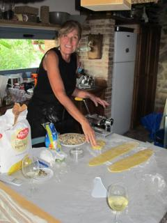 A Homemade pasta Cooking Class.to taste later together enjoing a dinner prepared from you!!
