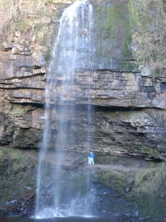 Henrhyd Falls, Brecon Beacons - come stand behind it and just listen...