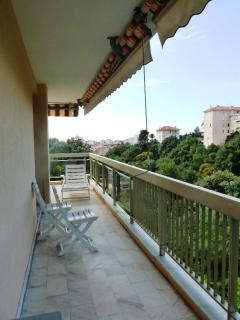 The large terrace boasts open views