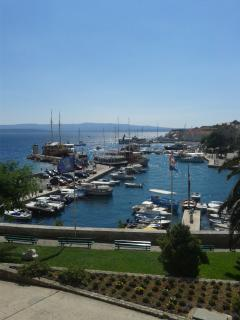 View of Bol harbour from Moby-Dick restaurant