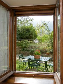 A view to the garden.