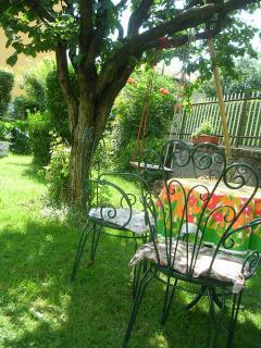 a garden in summer!