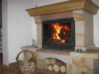 Welcoming log fire