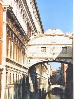 Venetian canal scene close to apartment
