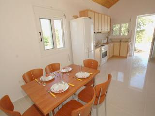 The kitchen has a dining area.