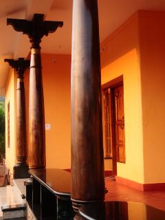 Restored antique rosewood pillars