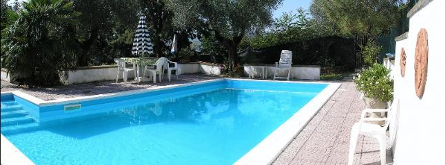 Panoramic view of pool