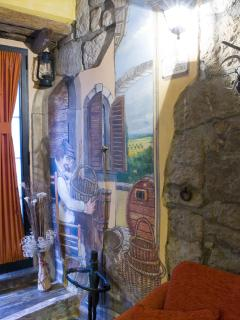 dipinto interno ingresso monolocale