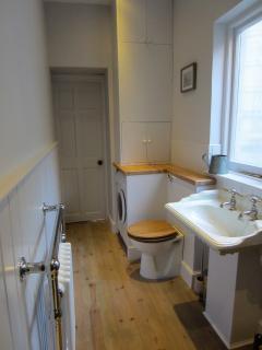 bathroom looking towards bedroom