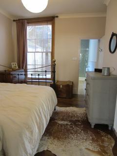 bedroom window and en suite bathroom