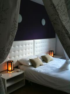 Purple room double. Lovely and spacious. View over valley, plenty of wardrobe space too.