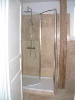 Top-floor walk-in shower